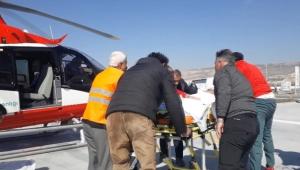 Kalp krizi geçiren hasta, hava ambulansı ile sevk edildi