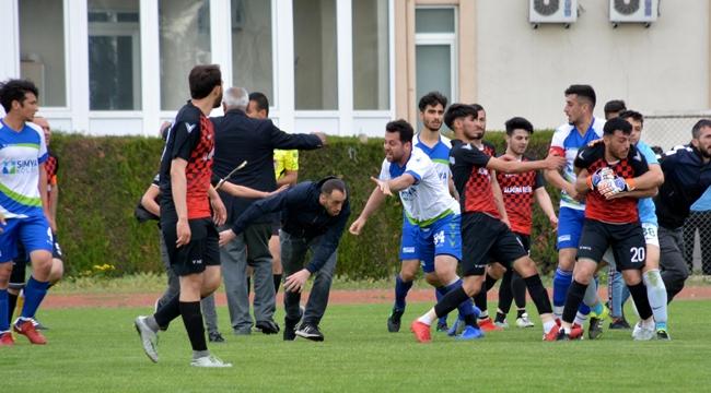 Kayseri'de amatör maçta kavga