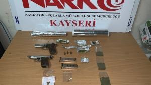 Kayseri'de uyuşturucu operasyonu: 4 gözaltı