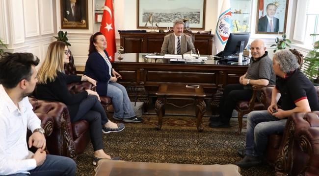 Kayseri Diş Hekimleri Odası Başkan Palancıoğlu'nu ziyaret etti