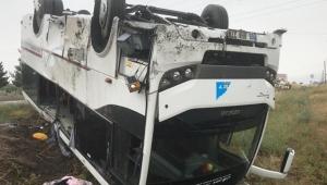 Nevşehir'de tur midibüsü devrildi: 27 yaralı