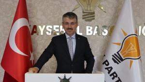 Ak Parti İl Başkanı Şaban Çopuroğlu'nun 15 Temmuz Demokrasi ve Milli Birlik Günü mesajı