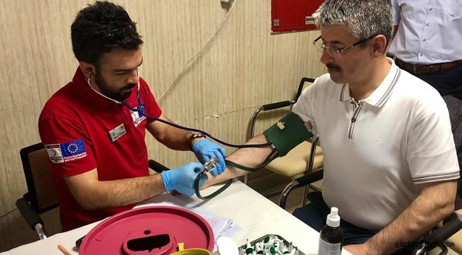 AK Parti İl Başkanlığı kan bağışında bulundu