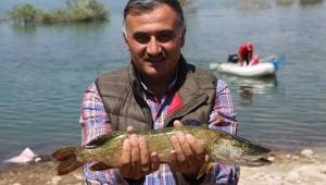 Develi'de Düzenlenen 2. Turna Balığı Tutma Yarışmasına Büyük İlgi