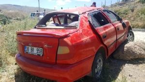 Kayseri'de otomobil şarampole devrildi: 6 yaralı
