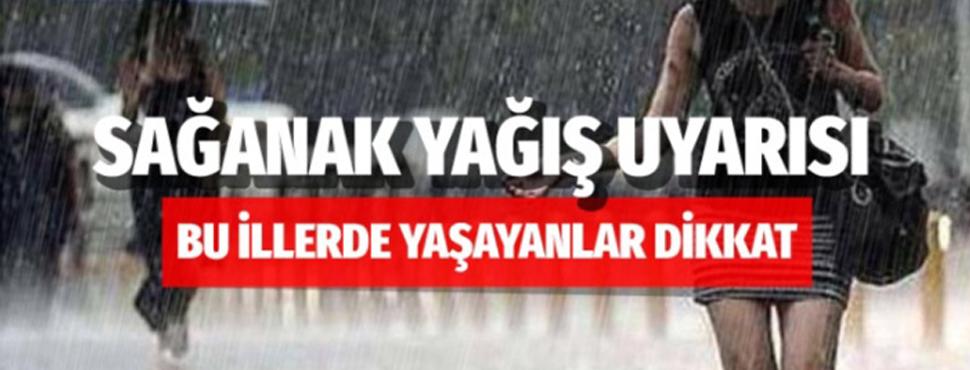 Meteoroloji Genel Müdürlüğünden birçok il için yağış uyarısı!