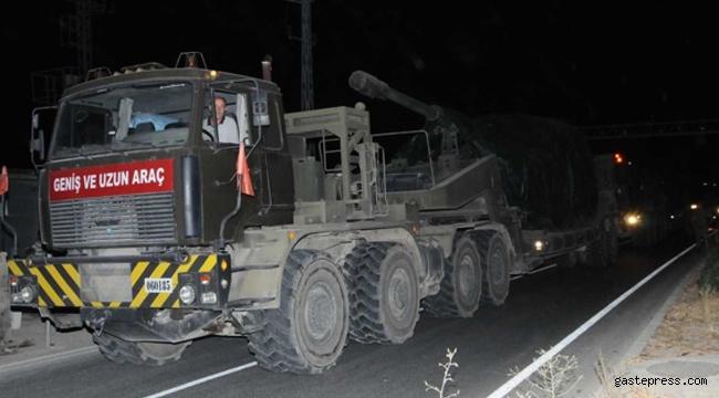 Suriye sınırına askeri açaç ve personel sevkiyatı yapıldı!