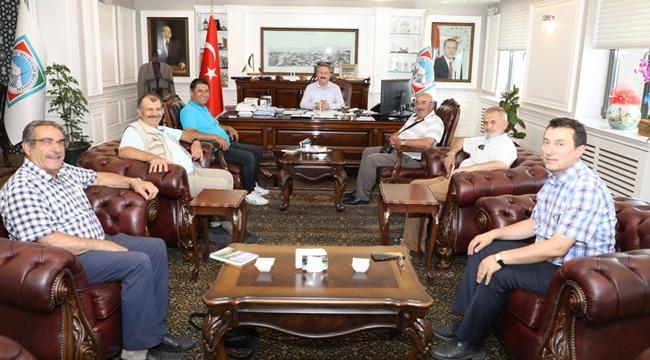 Türkiye Yazarlar Birliği üyeleri, Başkan Palancıoğlu'nu ziyaret etti!