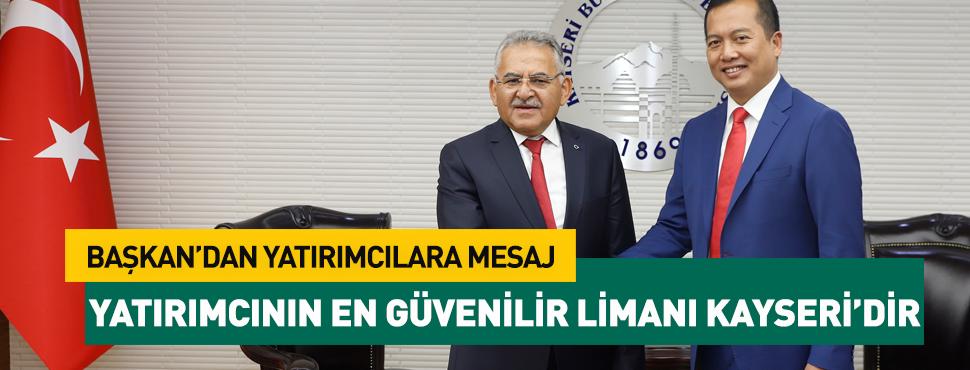 Yatırımcının En Güvenilir Lİmanı Kayseri'dir!