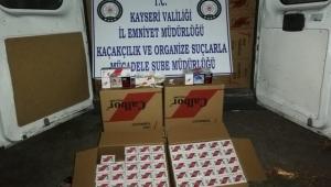 Kayseri'de kaçak makaron sigara operasyonu yapıldıI!