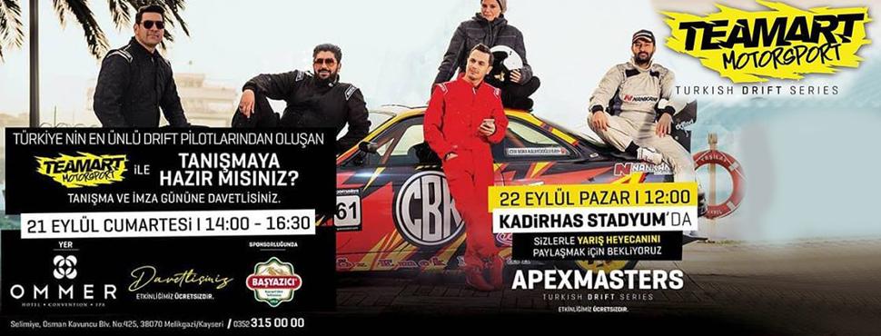 Türkiye'nin En Ünlü Drift Pilotları ile Adrenalin Dolu Bir Hafta Sonu Kayseri'de!
