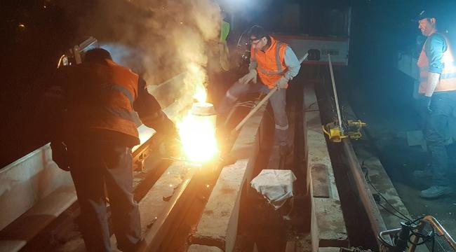Ankara Metrosunda Aşınan Raylar Yenileniyor!