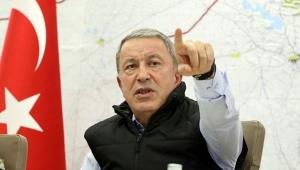 Bakan Akar ve komutanlar 'Barış Pınarı Harekâtı'nı sevk ve idare ediyor