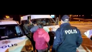 Kayseri'de otobüste 15 kaçak yakalandı