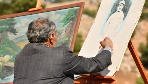 Kayseri'nin Yahyalı İlçesinde Çoban Ressam