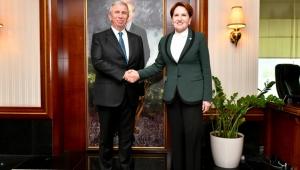 Meral Akşener, Ankara Büyükşehir Belediye Başkanı Mansur Yavaş'ı ziyaret etti!