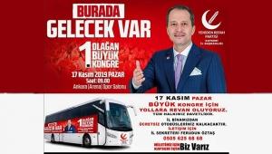 Yeniden Refah Partisi 17 Kasımda Ankara'da Kongreye Hazırlanıyor