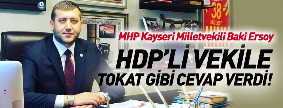 MHP Kayseri Milletvekili Baki Ersoy'un, HDP'li Vekile Cevabı!