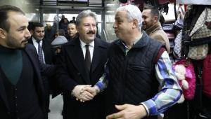 Başkan Mustafa Palancıoğlu'ndan esnafa ziyaret!