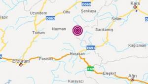 Sarıkamış'ta 4.2 büyüklüğünde deprem