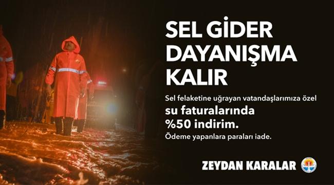 Adana Büyükşehir'den Sel mağduru vatandaşın 3 aylık su faturasına yüzde 50 indirim!