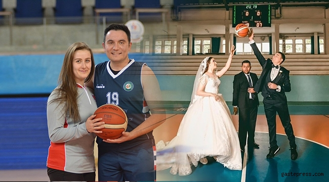Basketbolcu eşler aynı maçta görev yaptı