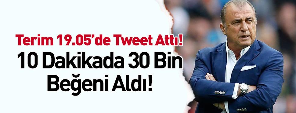 Fatih Terim 19.05'de tweet attı!