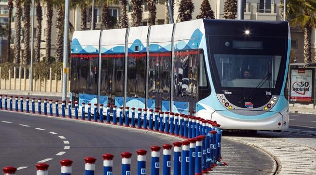 İzmir tramvayla 100 bin ton karbondioksit emisyonunu engelledi!