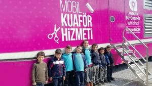 Antalya Büyükşehir'de Mobil Kuaför ilçelerde hizmet vermeye devam ediyor!
