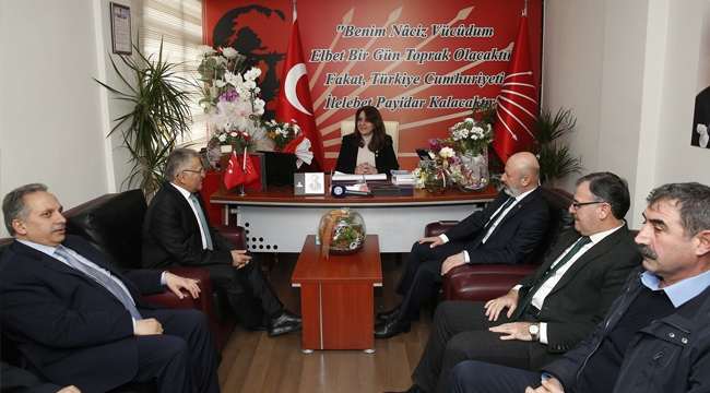 Başkan Büyükkılıç, CHP ve İyi Parti İl Başkanlıklarını ziyaret etti!