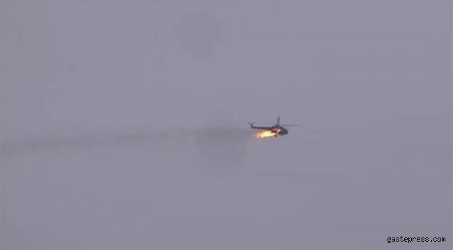 İdlib'de muhalifler rejim helikopterini düşürdü