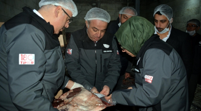 Kayseri'de gıda denetim seferberliğinde et ürünleri denetlendi