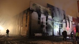 Kayseri'de, mobilya fabrikasında patlama sonrası yangın