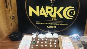 Kayseri'de uyuşturucu satıcısı 4 kişi yakalandı