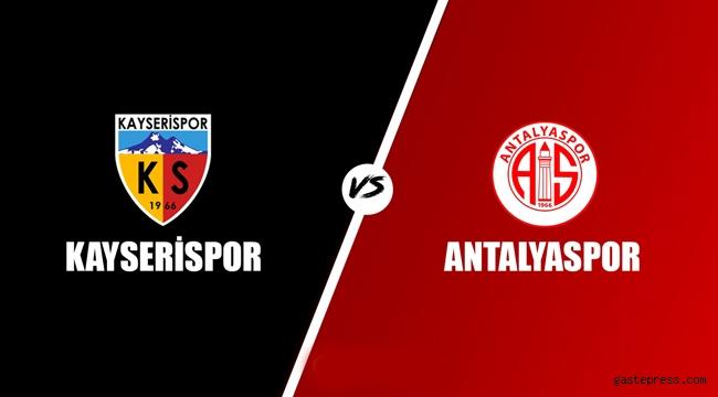 Zorlu maçta Hes Kablo Kayserispor Antalyaspor'u ağırlıyor!