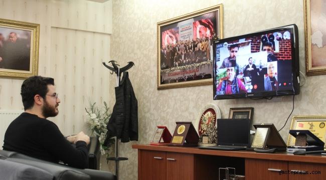 AK Parti Kayseri Kocasinan İlçe Başkanlığı, Koronavirüs salgını nedeniyle toplantılarını telekonferans yöntemi ile gerçekleştiriyor