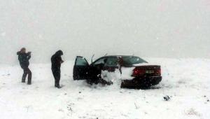 Ali Dağı'nda mahsur kalan sürücüyü AFAD kurtardı