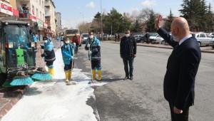Kocasinan Belediyesi'nden Sokak Sokak Dezenfekte Çalışması