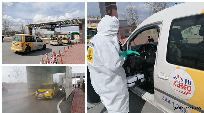 Konya Büyükşehir'den Dolmuş, Ticari Taksi ve Servislere Dezenfeksiyon Hizmeti