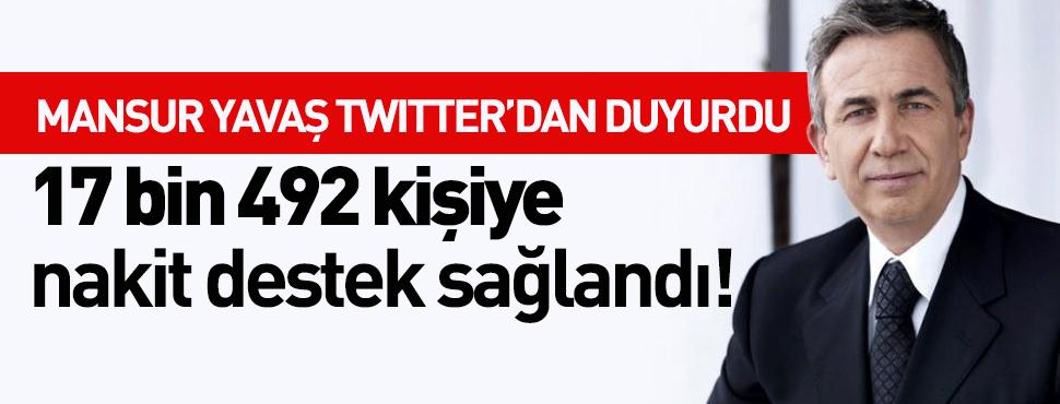 Ankara'da Başkan Yavaş Twitter'dan duyurdu! 17 bin 492 kişiye nakit destek sağlandı!