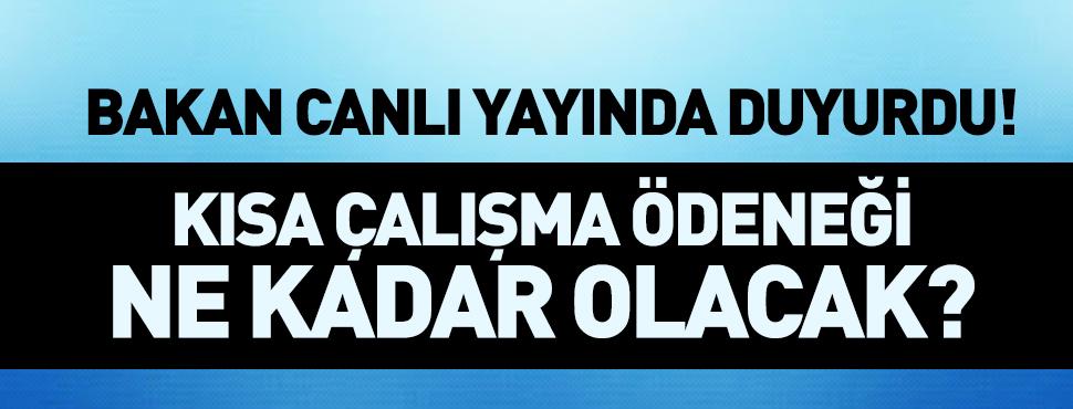 Bakan Zehra Zümrüt Selçuk Kısa Çalışma Ödeneğinin Ne Kadar Olacağını açıkladı!