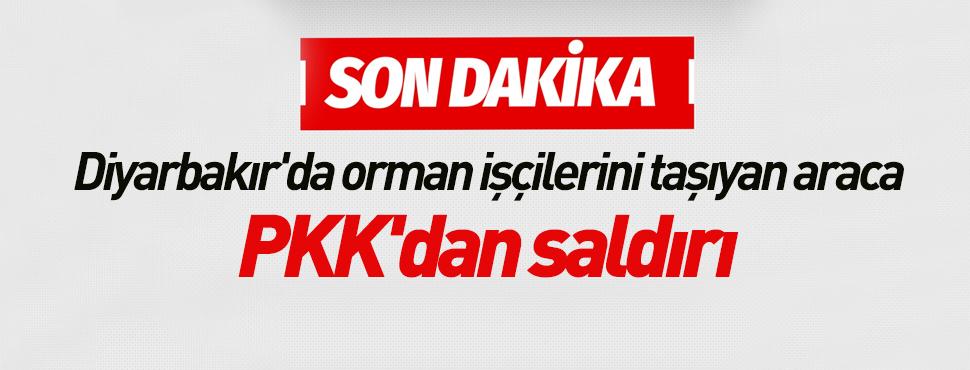 Diyarbakır'da orman işçilerini taşıyan araca PKK'dan saldırı