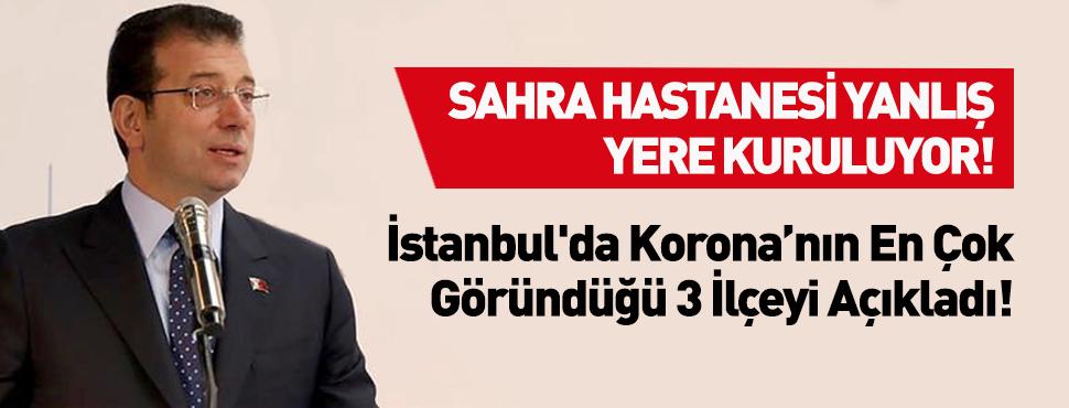 Ekrem İmamoğlu İstanbul'da Sahra Hastanesi Yanlış Yere Kuruluyor!