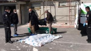 Kayseri'de 8'inci kattan düşen inşaat işçisi öldü!