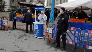 Kayseri'de pazar yerinde denetim