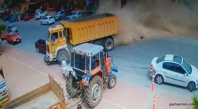 Freni boşalan kamyon, ortalığı savaş alanına çevirdi: 5 yaralı
