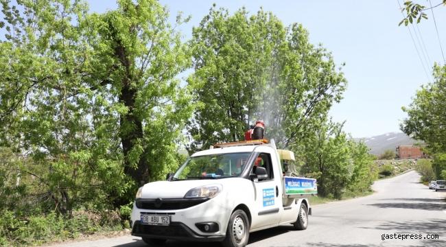 Kayseri Melikgazi Belediyesi Her Mahalleyi Haftada 2 Gün İlaçlıyor