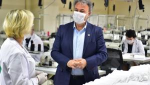 İzmir Bornova'da günde 30 bin maske üretilebilecek!