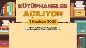 İzmir Büyükşehir 1 Haziran'da açılacak olan kütüphanelerin kurallarını açıkladı!