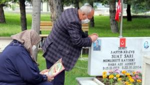 Kayseri'deki şehit aileleri, şehitliği ziyaret etti!